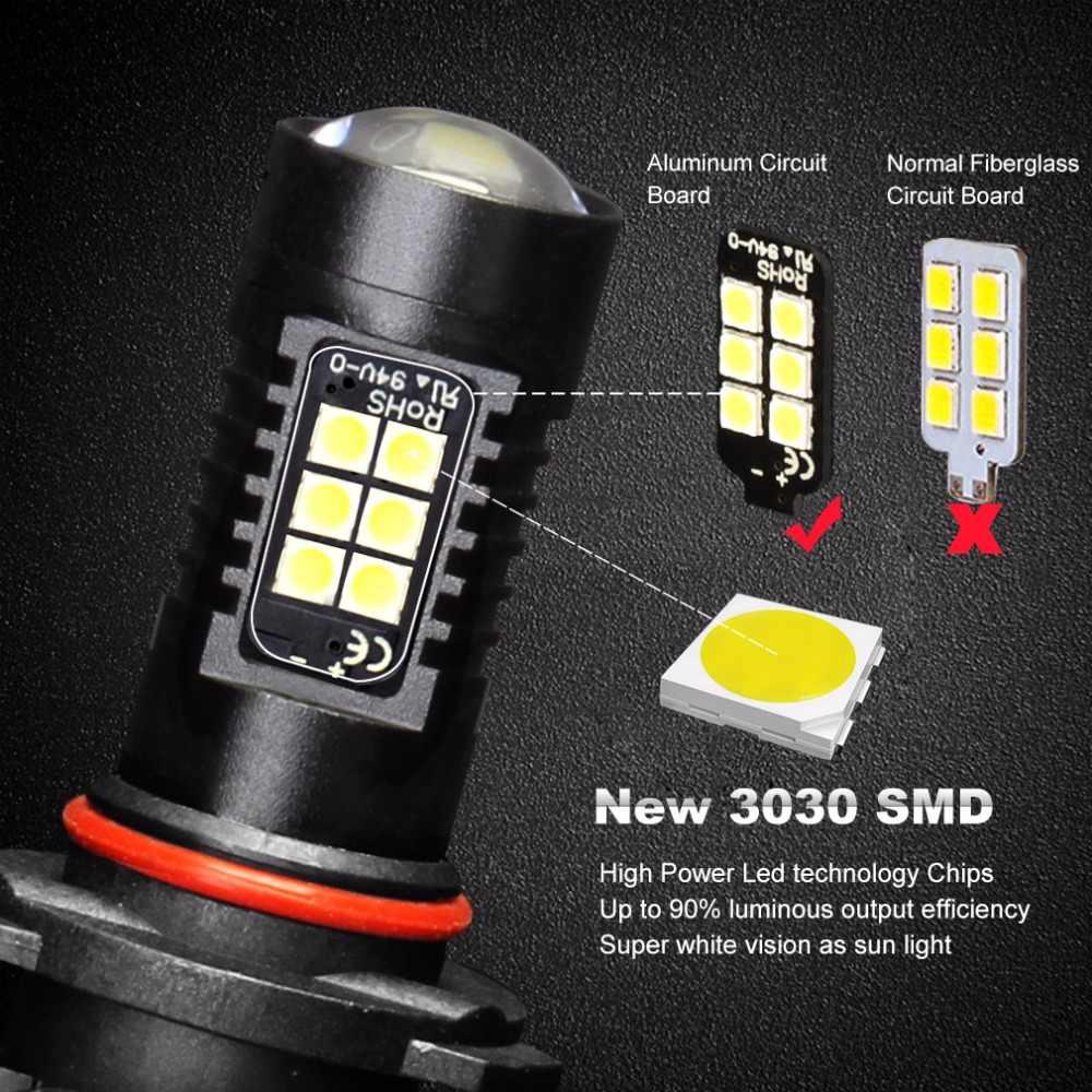 2Pcs Canbus H8 H11 HB3 9005 HB4 9006 Auto Fog Lights LED Car lights 1200LM 6000K No Error Led Bulbs Driving Lamp White 12V