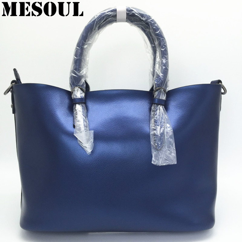 Luxury Design Women's Genuine Leather Casual Tote Purse Fashion Shoulder Handbag