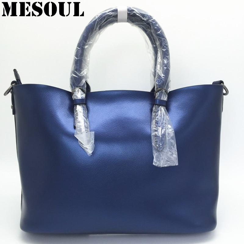 Luxury Design Women s Genuine font b Leather b font Casual Tote Purse Fashion Shoulder font
