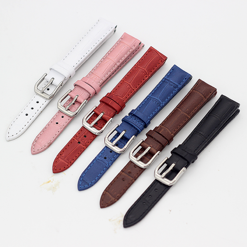 Small Size The Women's Wrist Watch Bracelet Genuine Leather Watchbands Watch Strap <font><b>12MM</b></font> 14MM 16MM 18MM image