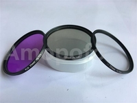 4 In1 77mm Ultra Violet UV Filter CPL Filter FLD Fluorescent Filter Lens Brush For