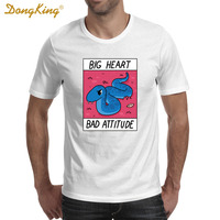 Newest Creative Design BIG HEART BAD ATTITUDE Printed T Shirts Men S Women S Fashion Short