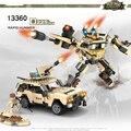 Cogo deformación mech educativos bloques de construcción de juguetes para los niños regalos mini jeep robot compatible con legoe