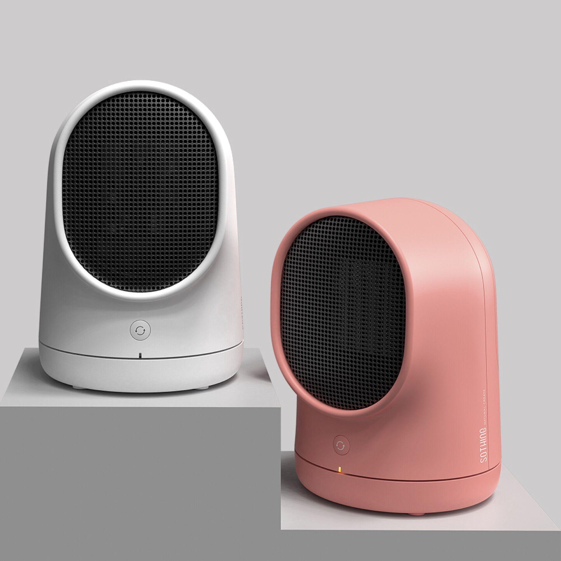 Mini Fashion Portable Electronic Heater Office Miniature Desktop Heater Hot Air Blower Can Shake The Head Energy Saving