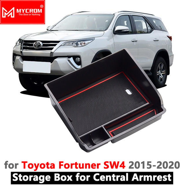 Armrest Box Storage Car Organizer Accessories for Toyota Fortuner SW4 2016 2017 2018 2019 AN150 AN160 150 160 Stowing Tidying