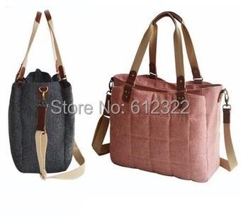 Tote Baby Diaper Bag For stroller British Style women messenger Bags woolen baby nursing changing bag sac a langer bebe couche