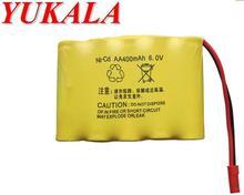 YUKALA 6.0 V 400mAh N-CD AA Battery for 543 663 636 535 RC car RC boat RC tank Free shipping