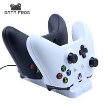 Для Xbox One Slim контроллер двойной зарядная док-станция Зарядное устройство подставкой + 2 шт. Перезаряжаемые батарей для Xbox One S Геймпад wirles