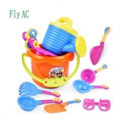 Fly AC 9 шт./компл. детские игрушки пляжа, солнцезащитные очки и пляж ведро играть песок набор инструментов, Детская подарки на день рождения