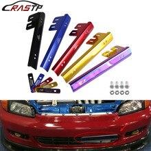 RASTP-Алюминиевый автомобильный Стайлинг материал легко установить номерной знак рамка для Honda Civic RS-BTD015
