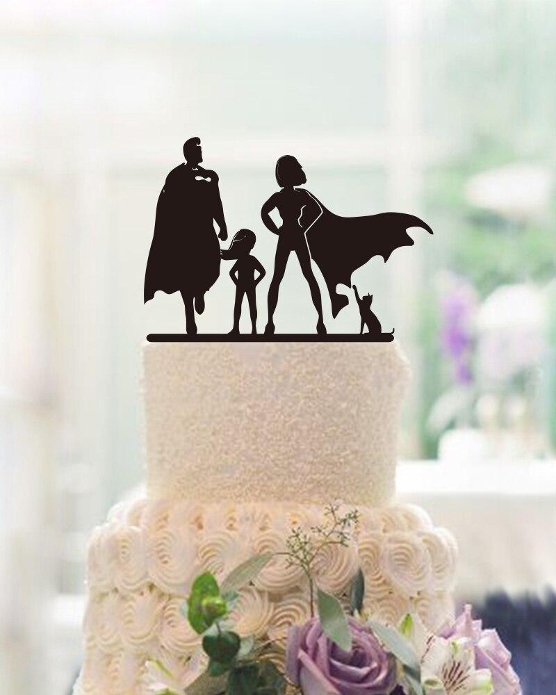 Family Party Decoration Födelsedagsfest Personlig Cake Toppers Unik - Semester och fester