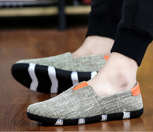 Men Loafers Canvas Shoes Fashion Slip On Mens Flats Shoes Sport Casual Canvas Espadrilles Men Driving Shoes 2016 Chaussure Homme