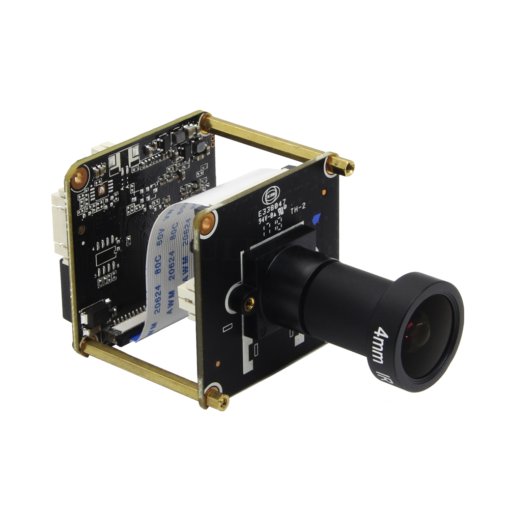 Image 2 - Starlight IP Camera 1080P H265 Module Board use SONY IMX307 Sensor and HI3516EV100 with F1.2 4mm Lens Free ShippingSurveillance Cameras   -