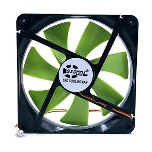 Image 2 - New 140mm fan DF1402512SEL DC 12V 0.12A sleeve 3 Pin 140x140x25mm pc case Server cooling Fan 1500RPM
