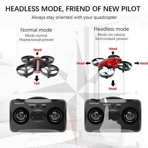 Image 2 - 미니 드론 Quadrocopter Dron RC 헬리콥터 Quadcopter 고도 홀드 헤드리스 모드 드론 2.4G 원격 제어 항공기 완구