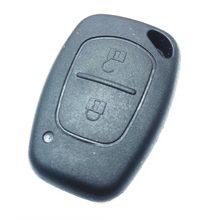 Capa automotiva remota de 2 botões, com chave de substituição para vauxhall/opel vivaro/renault movano trafic renault kangoo escudo em branco