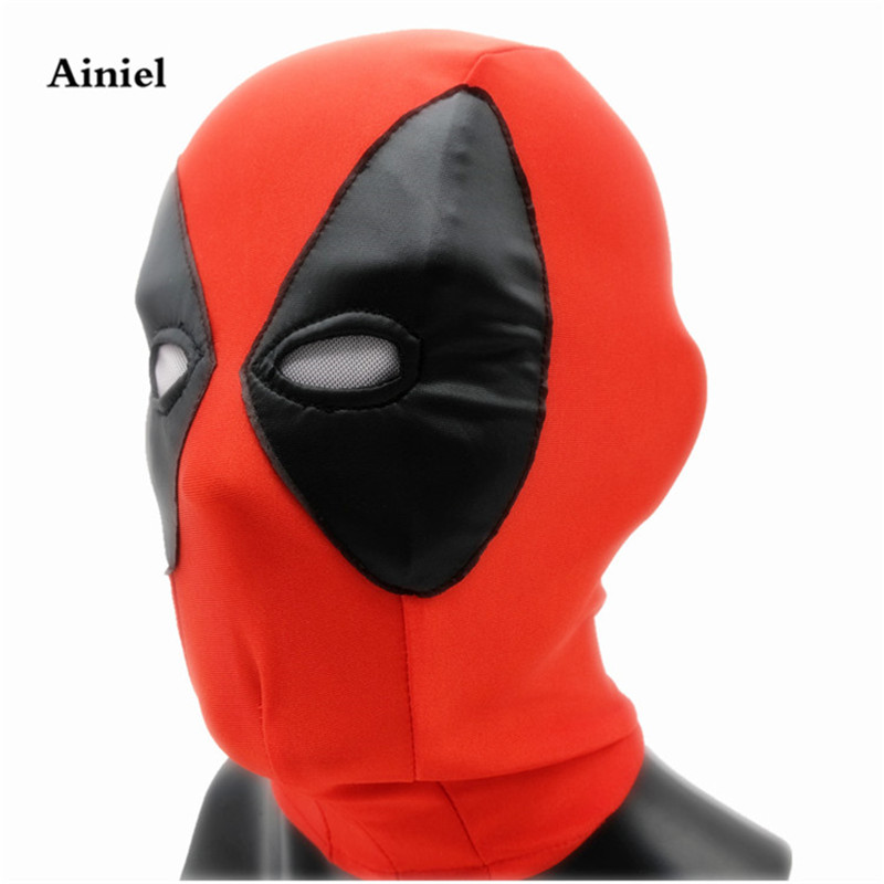 Ainiel Deadpool Mask Deadpool Cosplay Costume Wade Winston Wilson Cosplay Facepiece For Men and Women Halloween Party Carnival