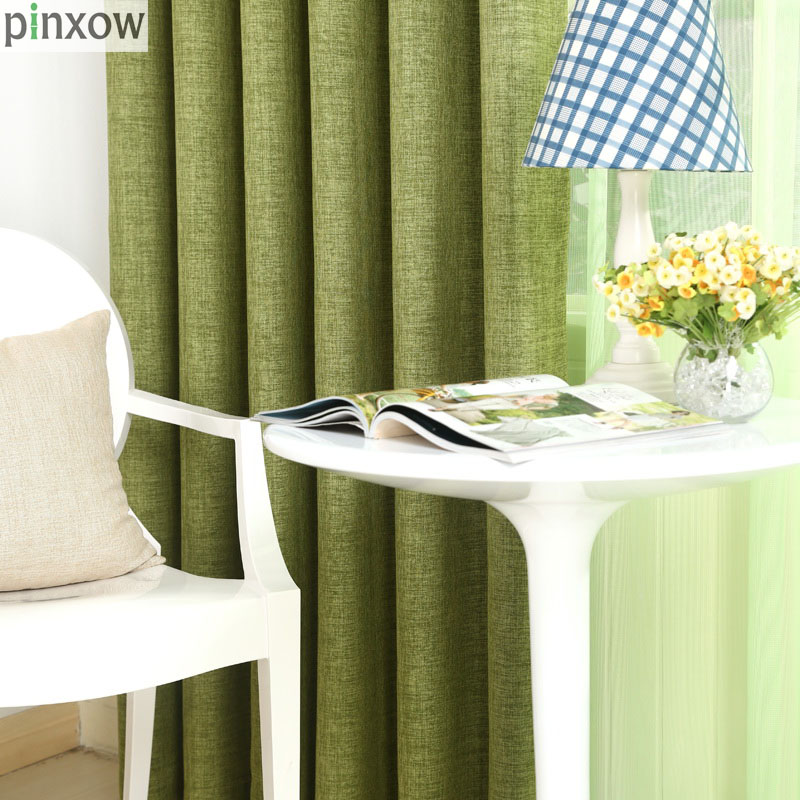 Blackout Solid Curtain Fabrics For Bedroom Insulated