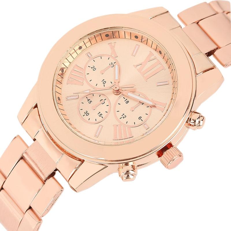 Relojes de las mujeres pulsera de plata / oro rosa números romanos - Relojes para mujeres
