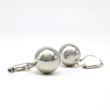 2019 New Fashion Gold color Ball Earrings Simple Metal Round Ball Stud Earrings For Woman Party Wedding Jewelry Femme Brincos 3
