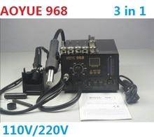 AOYUE 968 soldering machine SMD/SMT Hot Air bga welding machine,bga solder station