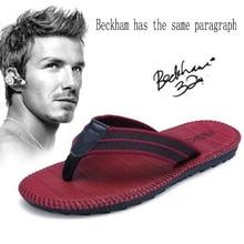 Летние вьетнамки для мужчин и женщин; Beckham; пляжные шлепанцы; мужские сандалии; мужская обувь на ремешке