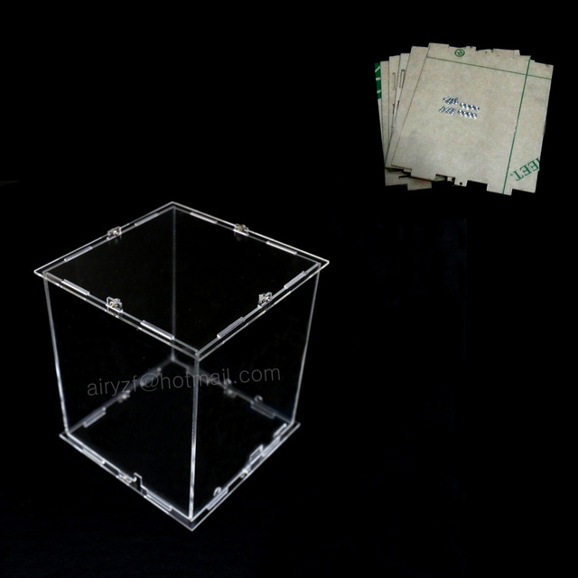DIY 3D 8S mini LED Light Cubes Acrylic  case- note:cubes box  only with the use of our 3d8 mini cubes,size is 12x12x h14 cm