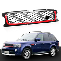 High Quality Black & Red Front Grille Mesh Grill Vent FOR Land Rover Range Rover Sport 2010 2011 2012