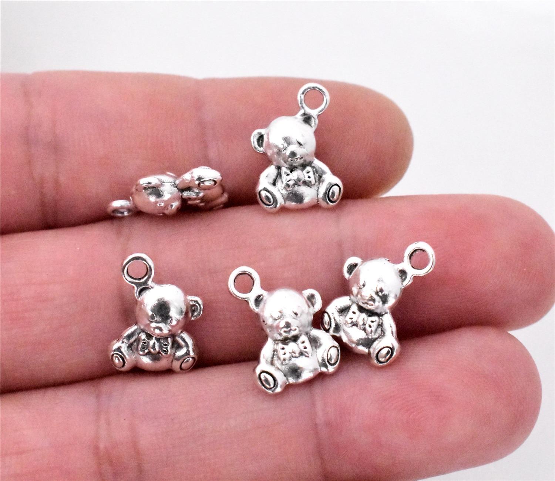 Koala Charm//Pendant Tibetan Antique Silver 20mm  10 Charms Accessory Jewellery