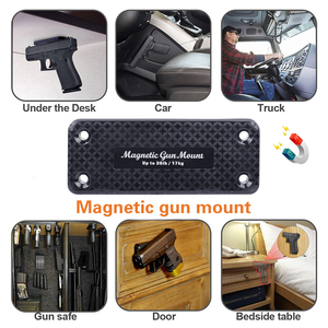 Image 2 - 36LBS Gun Magnetic Holder Holster Magnet Pistol Rifle Concealed Car Home Safe Under Table Free Shipping Gun Holders Load Hunting