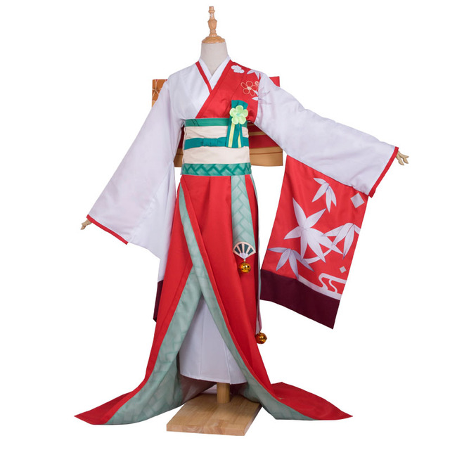 Trò Chơi Onmyoji Ame Onna Kimono Nhật Bản JP phong cách trang phục hóa trang đầy đủ dài ĐầM Nữ ĐầM Váy
