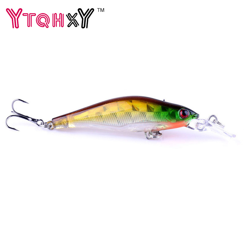 1Pcs Laser Wobblers Fishing lure 3D Eyes iscas artificiais para pesca Sinking Minnow Fishing tackle Crankbait 8# hook YE-292 1pcs 12cm 11 5g fishing lure bass bait minnow lures 6 hook iscas artificiais para pesca crankbait fishing tackle zb34
