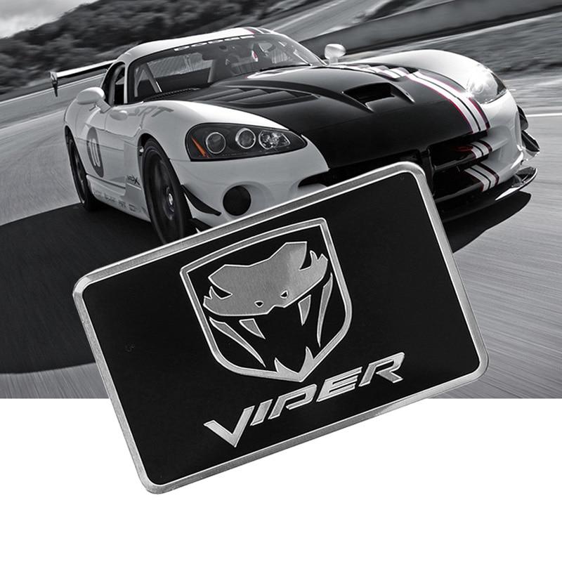 Cobra Symbol Aluminium Allloy Car Styling Emblem Dadge Sticker for Chrysler Dodge Viper