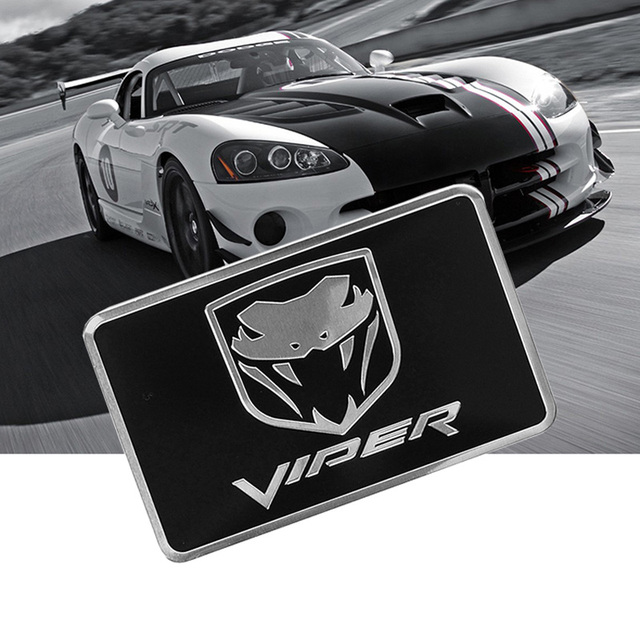 Cobra Symbol Aluminium Allloy Car Styling Emblem Dadge Sticker For