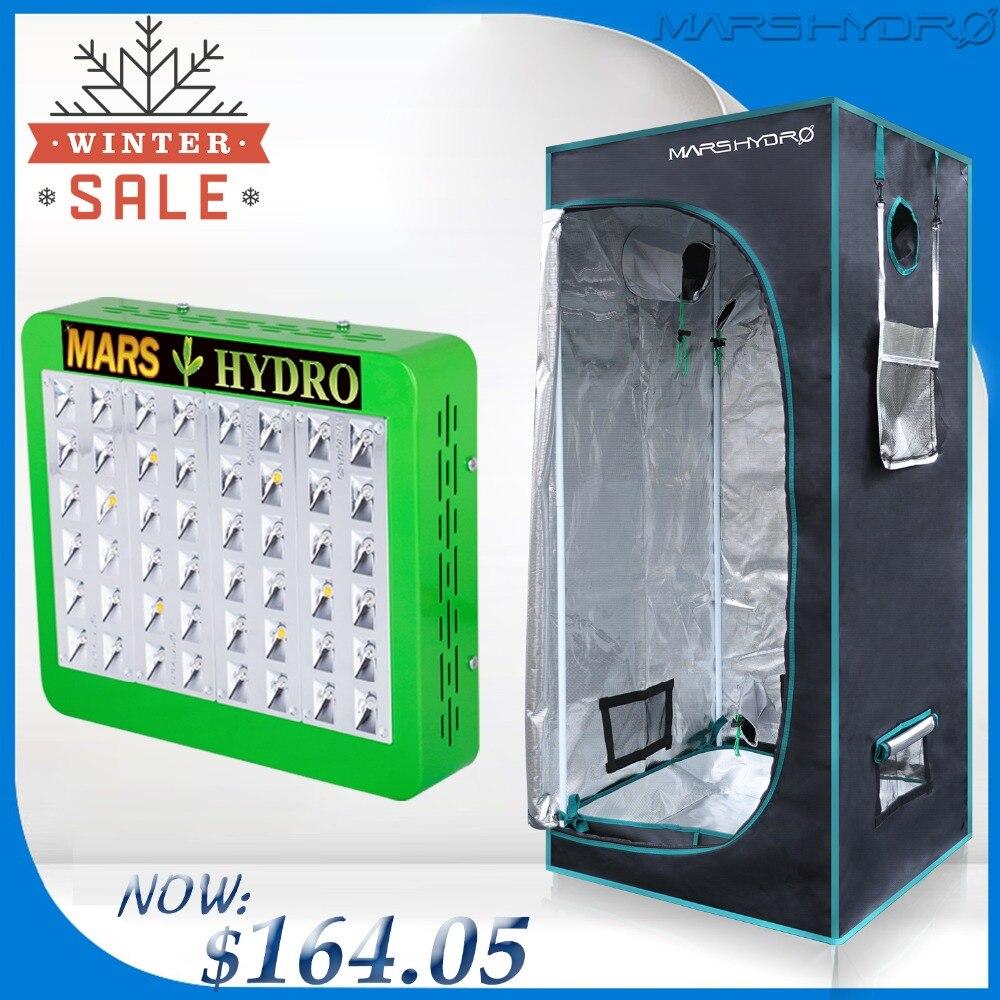 Mars Hydro отражатель 240 Вт светодиодный Светодиодная лампа для роста панели Hydro + 70x70x160 Крытый расти палатки комплект для комнатных растений Выр...