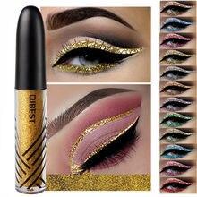 Delineador líquido à prova d'água com 13 cores, delineador de olhos de longa duração para maquiagem, delineador brilhante dourado, vermelho, azul e branco maquiagem
