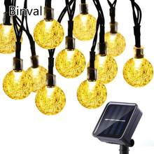 Binval Solar Globe Ball String Lights 30 LED Light String Outdoor Fairy Lights Garland Christmas Decorations for Home Outdoor(China)