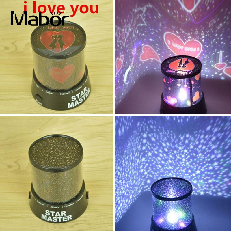 I LOVE YOU/Starry Sky Stars LED Projector Lamp Light Home Decor Christmas Gifts