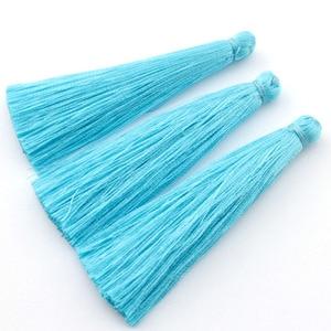 Image 4 - TEVIDA Borlas de seda para fabricación de joyas, collar, pendientes, prendas, cortinas, sombreros, 50 Uds., venta al por mayor