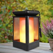 Decorative Rechargeable Waterproof Solar Powered Candle Lights-Solar Garden Lights Outdoor, Torch Light with Flickering
