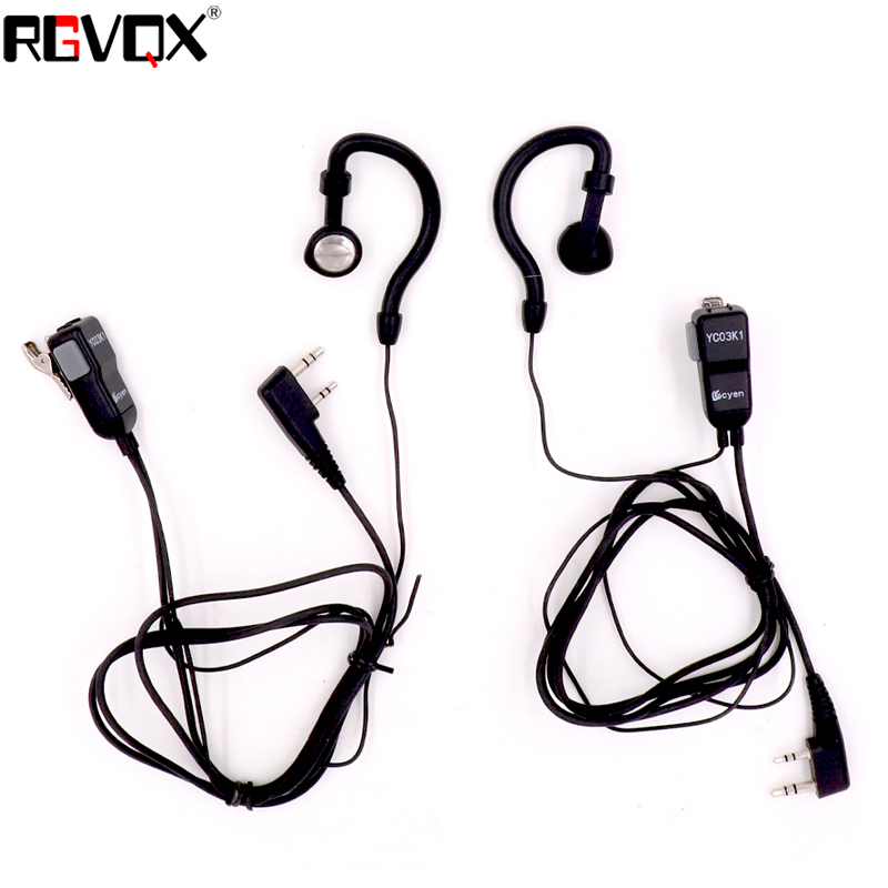 Image 2 - G Shape Earhook Mic Earpiece Walkie Talkie Headset For Kenwood For Baofeng For Linton For Wouxun For Puxing 2 pin Radio-in Walkie Talkie from Cellphones & Telecommunications