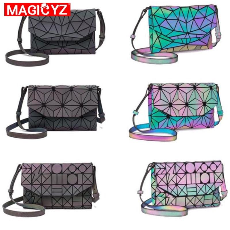 Image 2 - MAGICYZ Crossbody Bag For Women 2018 Fashion Laser Geometric Luminous Women Handbags Purse Clutch Designer Brand Shoulder Bags-in Top-Handle Bags from Luggage & Bags