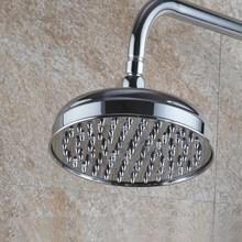 цена на Rain Shower Head 8 inch / 7.7 inch Rainfall Shower Head Over-head Shower Sprayer Top Shower Head Chrome Finish Ksh048