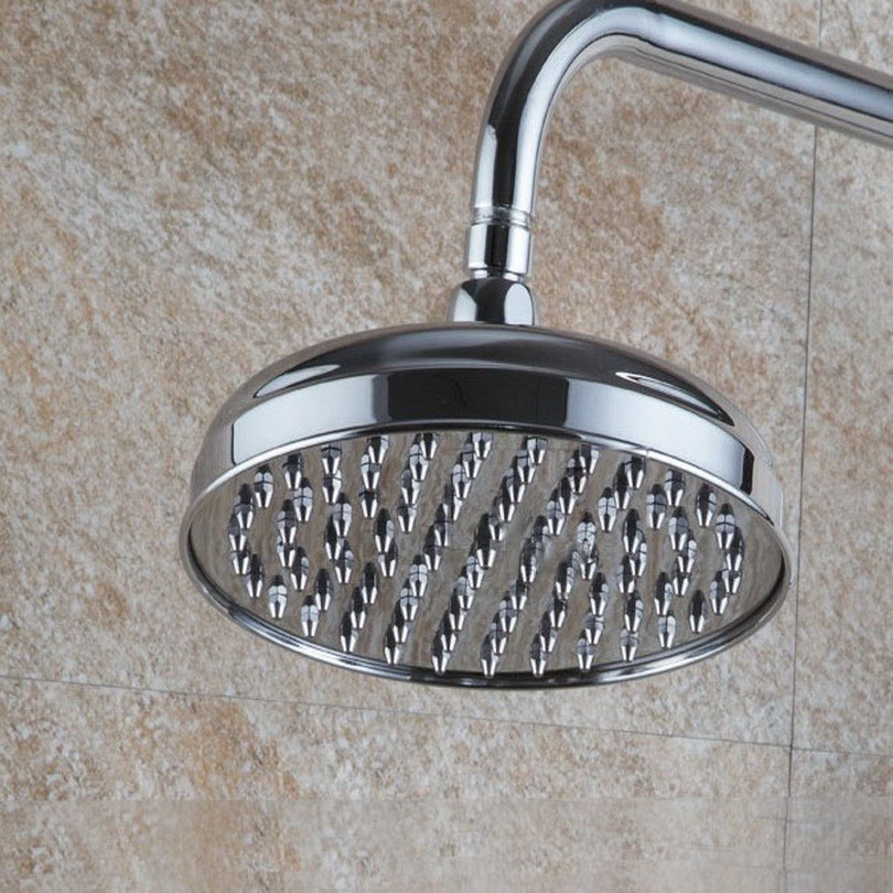 Rain Shower Head 8 inch / 7.7 inch Rainfall Shower Head Over head Shower Sprayer Top Shower Head Chrome Finish Ksh048