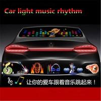 Muziek Rhythm LED Flitslicht Lamp Equalizer Auto Sticker 90*25 cm