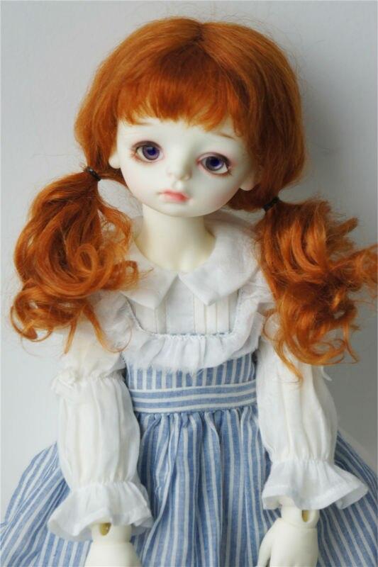 купить D2031L 1/3 23-25CM mohair BJD doll wigs  9-10 inch  Long European princess curly doll wigs дешево