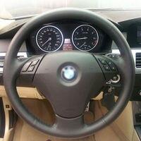 Shining wheat Black Artificial Leather Car Steering Wheel Cover for BMW 523 523li 525 520li 530 535 545i E60