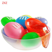 1pcs Cute packaging Slime Clay Colorful Non-toxic Blowing Bubbles Crystal Mud Clay Toy Slime Environmental Funny kids Toys Gift