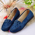Women Casual Loafers Spring Autumn Slip-On Flats Round Toe Artificial Suede Zapatos Mujer Comfy Flat Heel Shoes Asia Size 36-40