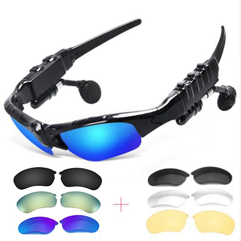 Outdoor Glasses Bluetooth Sunglasses Headphones Stereo Wireless Sport Riding Song Call Ear Buds Earphone for xiomi xiami Sony